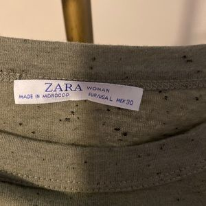 Zara Green Speckle T Shirt Size Large